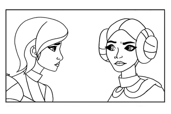 Fan Made Forces Of Destiny Colouring Pages Jedi News
