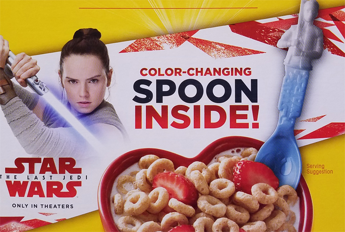 Collect The Last Jedi Spoons In Boxes Of General Mills Cereal