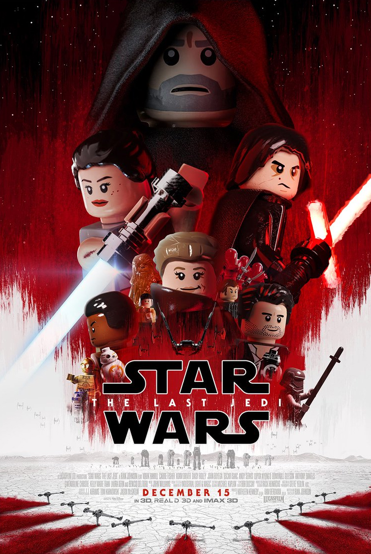 39 the last jedi 39 theatrical poster done in lego style for Chambre 13 film