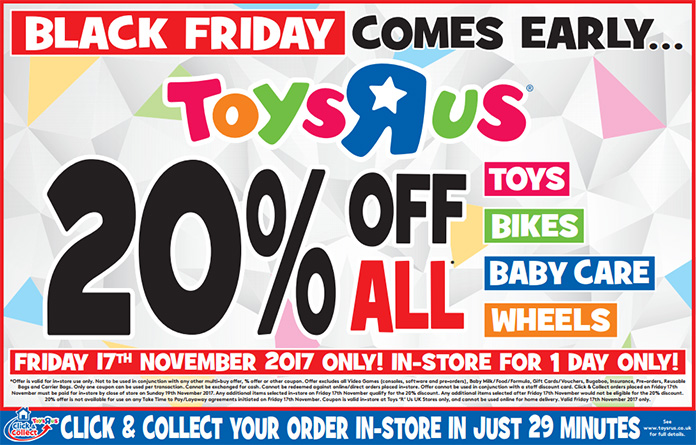 Black Friday Comes Early At Toys R Us In Uk Jedi News