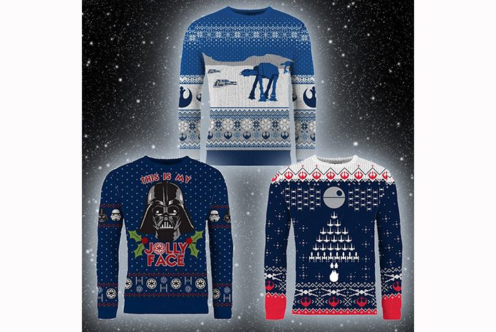 merchoid has today revealed three brand new officially licensed star wars themed christmas sweaters