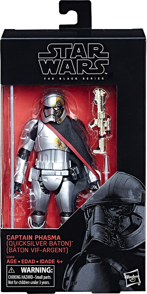 Hasbro Star Wars Black Series Captain Phasma Quicksilver Baton 6 Inch Figure TRU