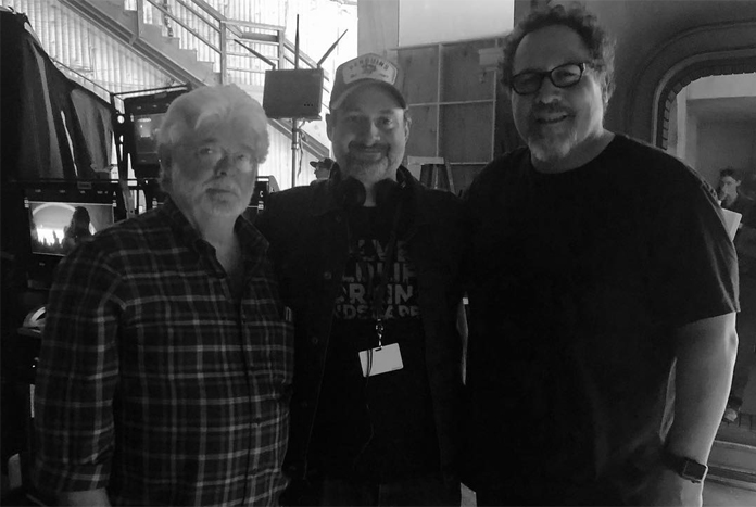 Dave Filoni Poses With George Lucas & Jon Favreau On The Mandalorian Set -  Jedi News