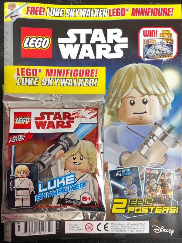 LEGO Star Wars Comic Issue 43 with Luke Skywalker Figure