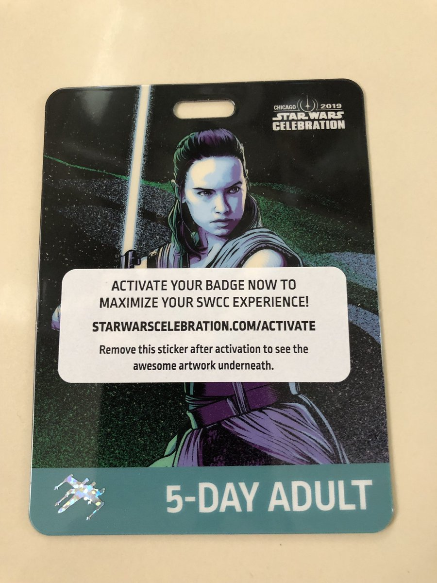 Rey Official Star Wars Celebration Chicago 2019 5-Day Adult Badge