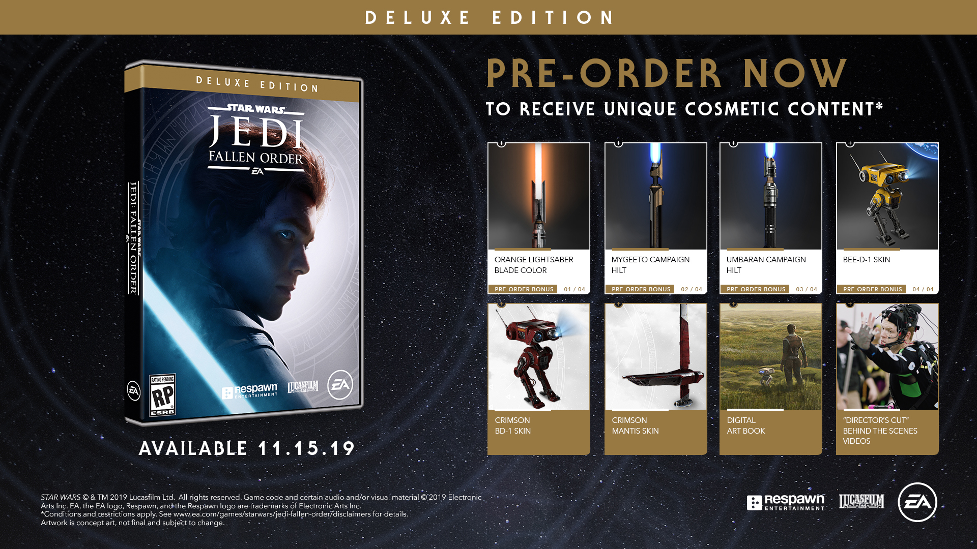 Here S What You Get With The Deluxe Edition Of Star Wars Jedi Fallen Order Jedi News