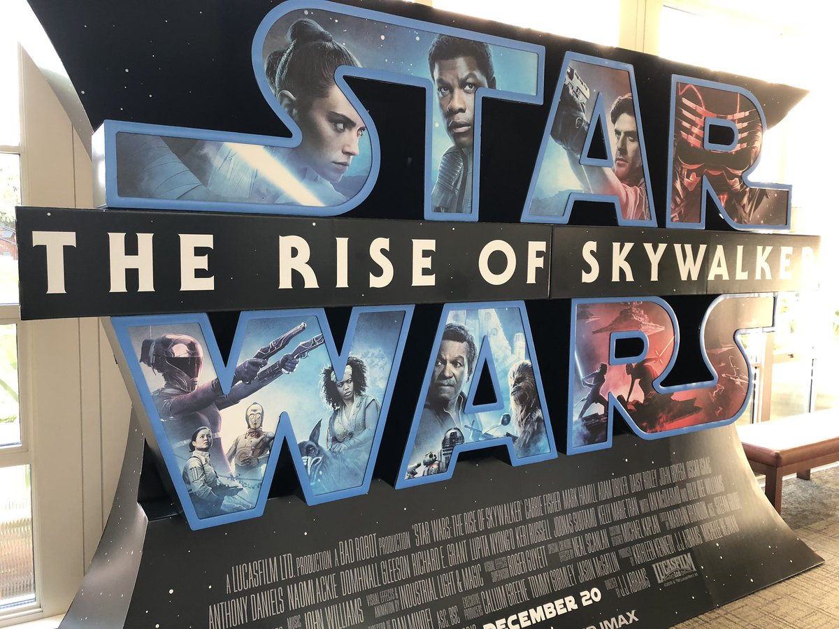 Updated Photo Of The Rise Of Skywalker Imax Theater Standee Jedi News