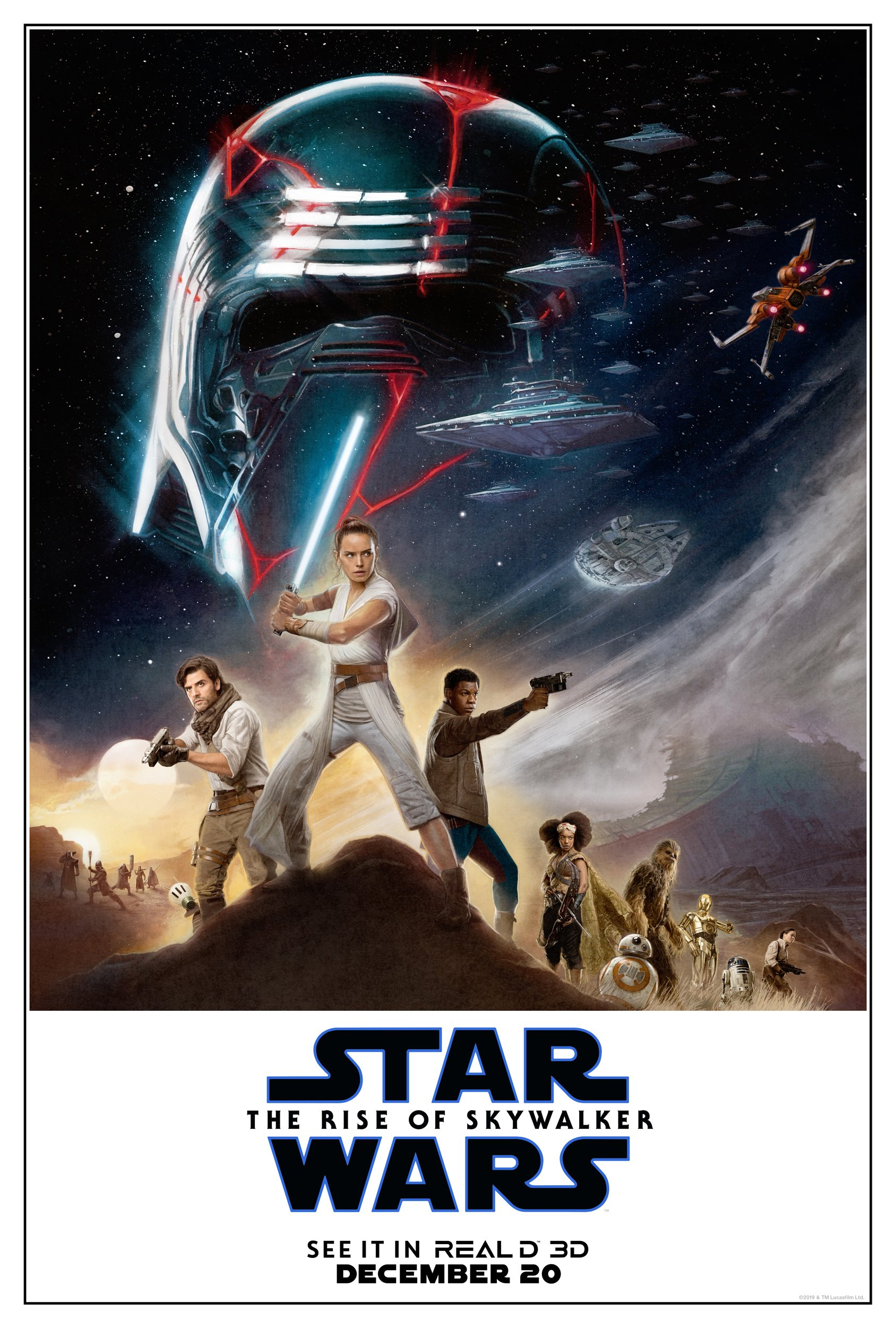 New Reald 3d Exclusive The Rise Of Skywalker Poster Revealed Jedi News