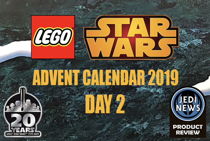 lego star wars advent calendar 2019 day 2 jedi news. Black Bedroom Furniture Sets. Home Design Ideas
