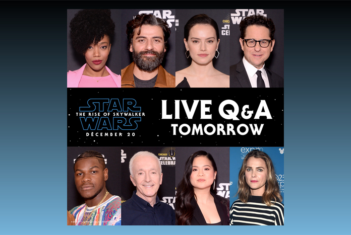 Star Wars The Rise Of Skywalker Live Q A With Cast Later Today Jedi News