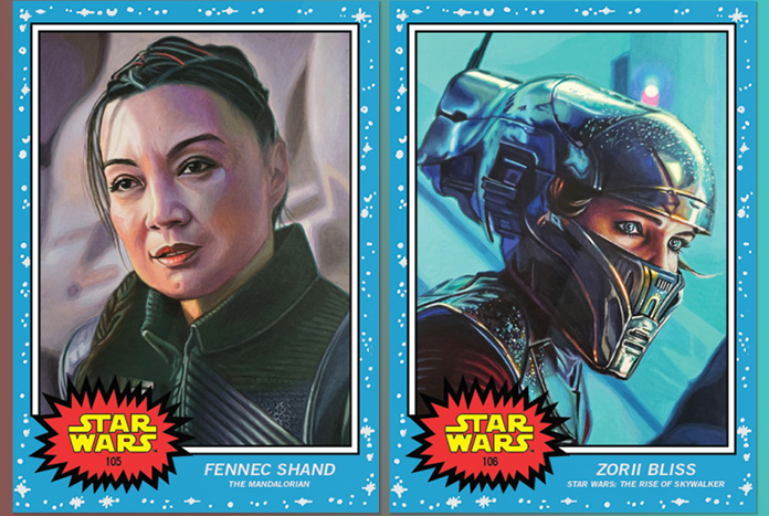 Topps Star Wars Living Set Week 53 Fennec Shand And Zorii Bliss Jedi News