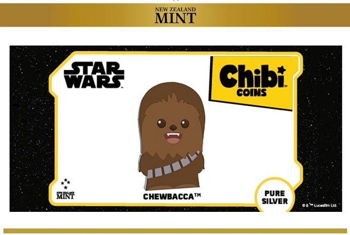Chibi Star Wars Chewbacca 1 oz .999 Silver Coin NEW SOLD OUT! 2,000 Minted