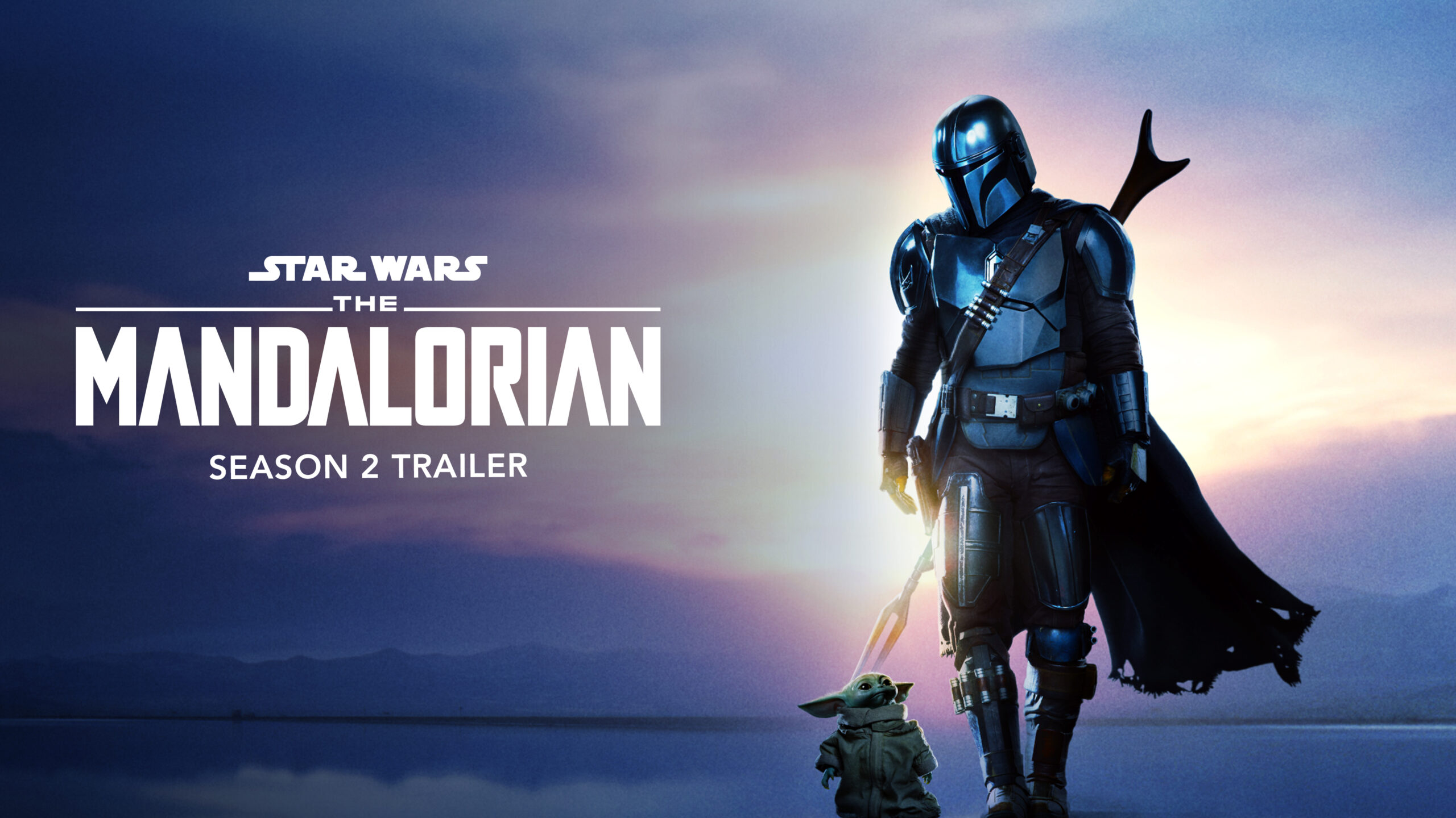 High Resolution Image Of Din Djarin And The Child From The Mandalorian Season 2 Blue Logo Jedi News
